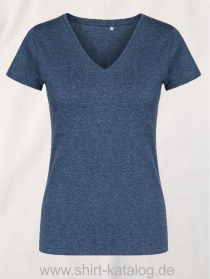 X-O-V-Neck-T-Shirt-Women-heather-navy