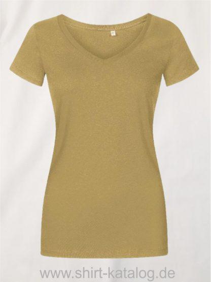 X-O-V-Neck-T-Shirt-Women-olive