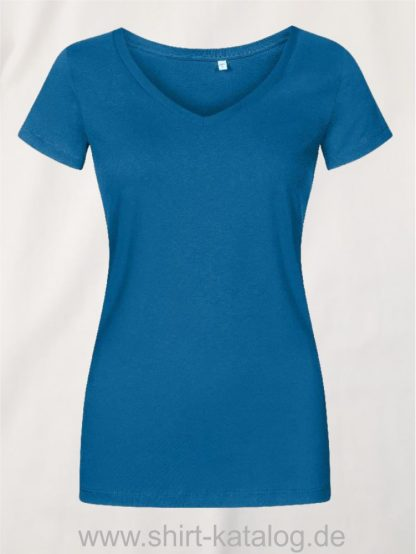 X-O-V-Neck-T-Shirt-Women-petrol