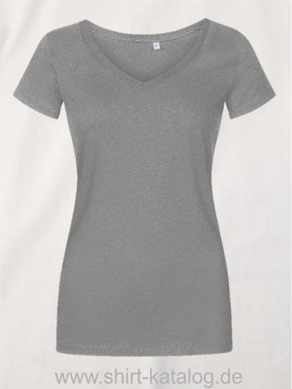 X-O-V-Neck-T-Shirt-Women-steel-gray