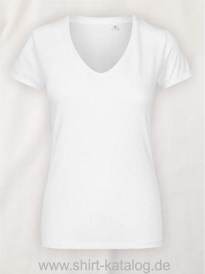X-O-V-Neck-T-Shirt-Women-white