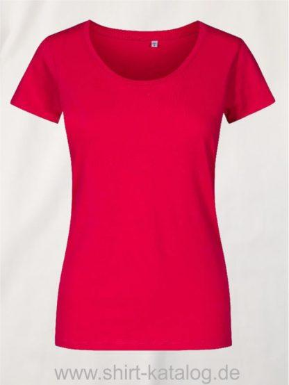 XO-Deep-Scoop-T-Shirt-Women-bright-rose