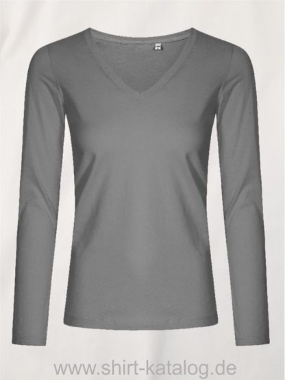 XO-V-Neck-T-LS-Women-steel-gray