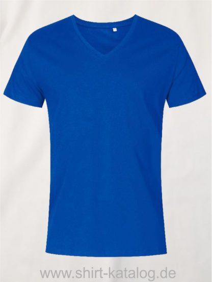XO-V-Neck-T-Shirt-Men-azure-blue