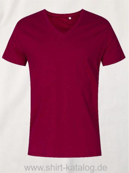 XO-V-Neck-T-Shirt-Men-berry