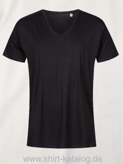 XO-V-Neck-T-Shirt-Men-black