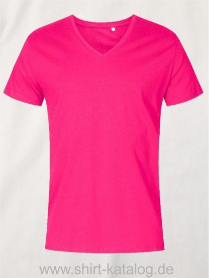 XO-V-Neck-T-Shirt-Men-bright-rose
