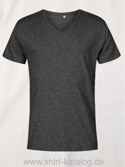 XO-V-Neck-T-Shirt-Men-heather-black