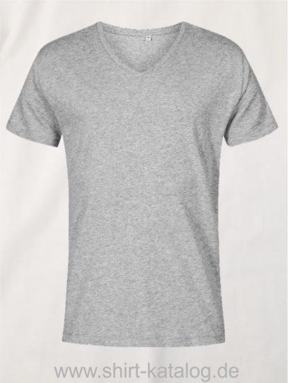 XO-V-Neck-T-Shirt-Men-heather-grey