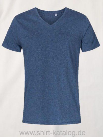 XO-V-Neck-T-Shirt-Men-heather-navy