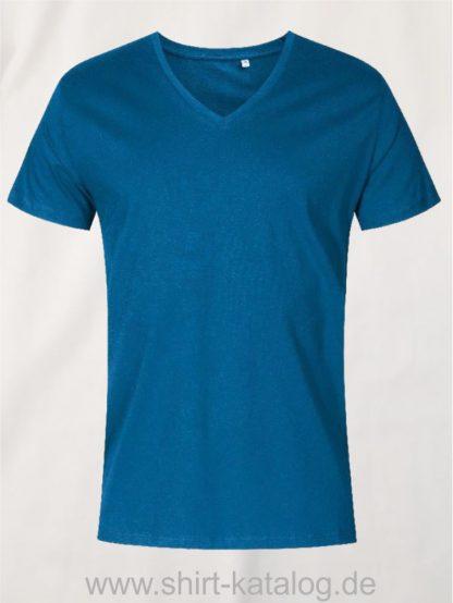 XO-V-Neck-T-Shirt-Men-petrol