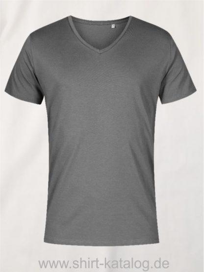 XO-V-Neck-T-Shirt-Men-steel-gray