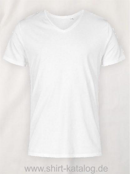 XO-V-Neck-T-Shirt-Men-white